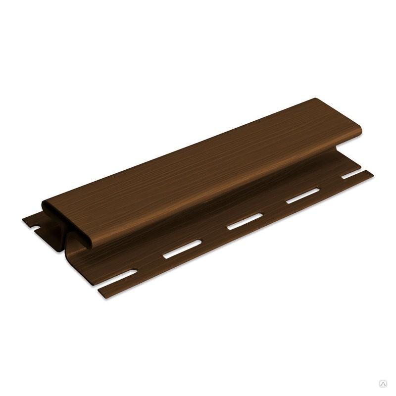 Планка соединительная Альта-Профиль (коричневая)