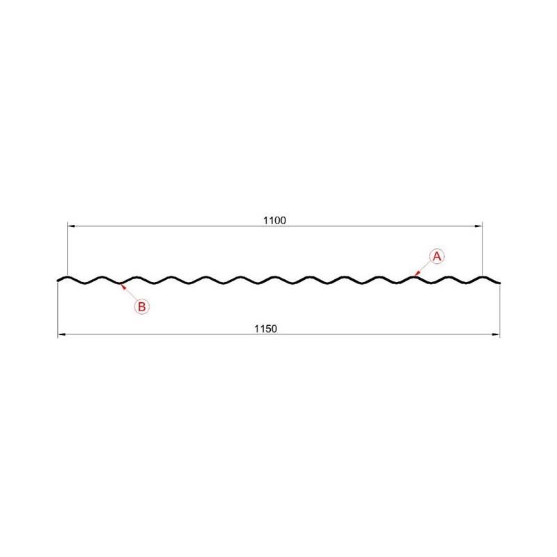 Профнастил МП-18 (А, В) МП