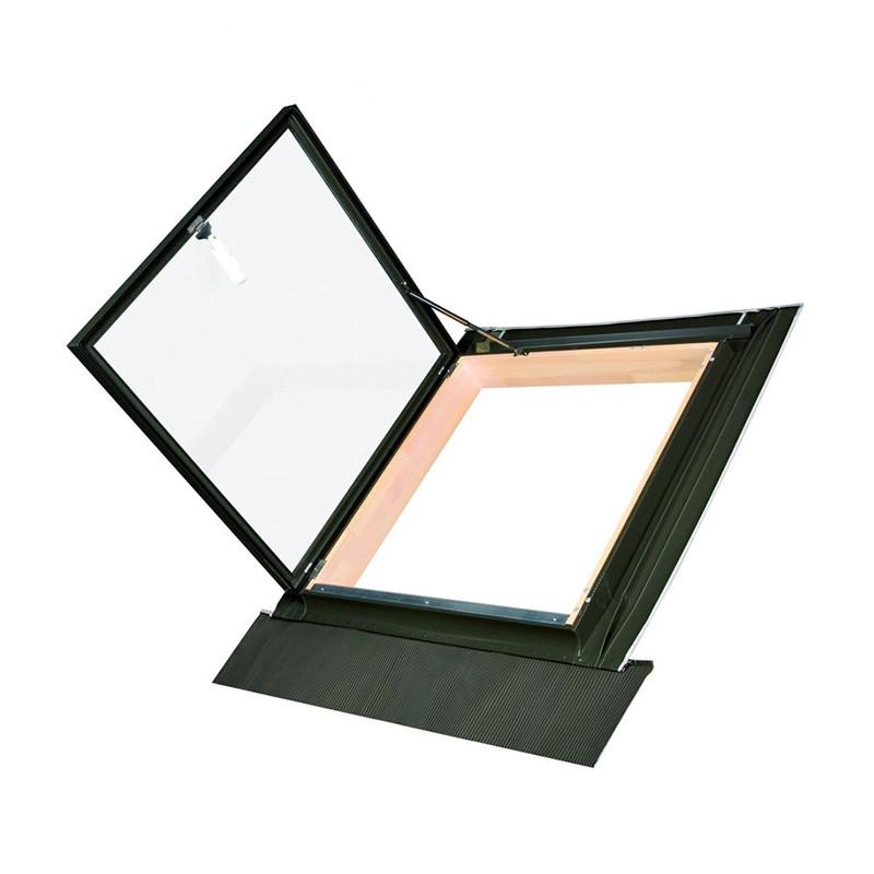 Мансардное окно-люк Fakro WLI в комплекте с универсальным окладом