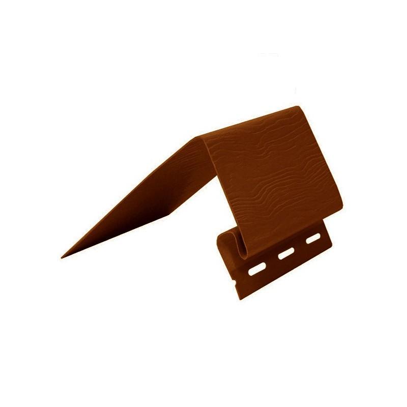 Планка околооконная шир. (откос 24 см) Альта-Профиль (коричневая)