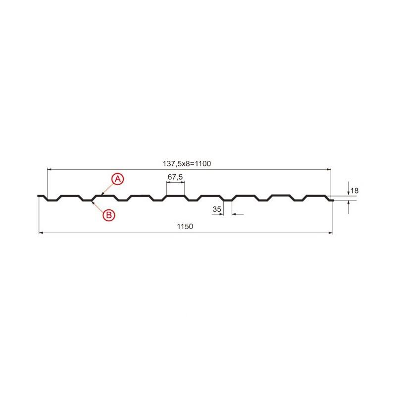 Профнастил МП-20 (А, В, R)  МП