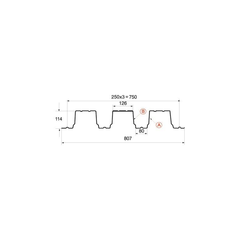 Профнастил H-114 (А, В) МП