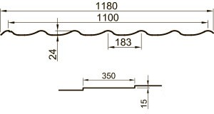 Металлочерепица УНИКМА M28