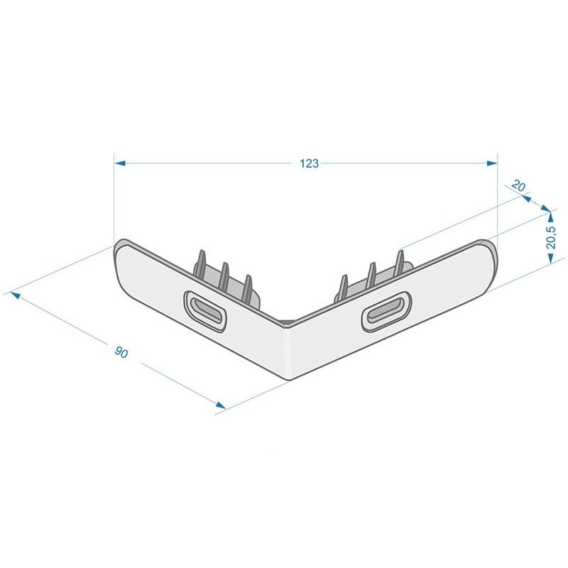 Стартовый угловой профиль (пластиковый) Stein Döcke-R