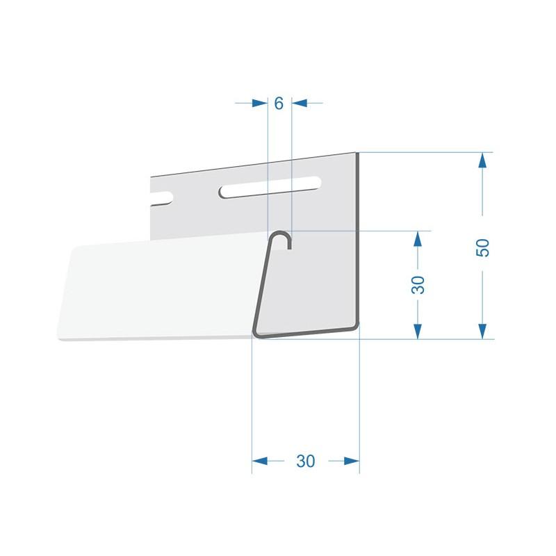Фасадный J-профиль Döcke-R