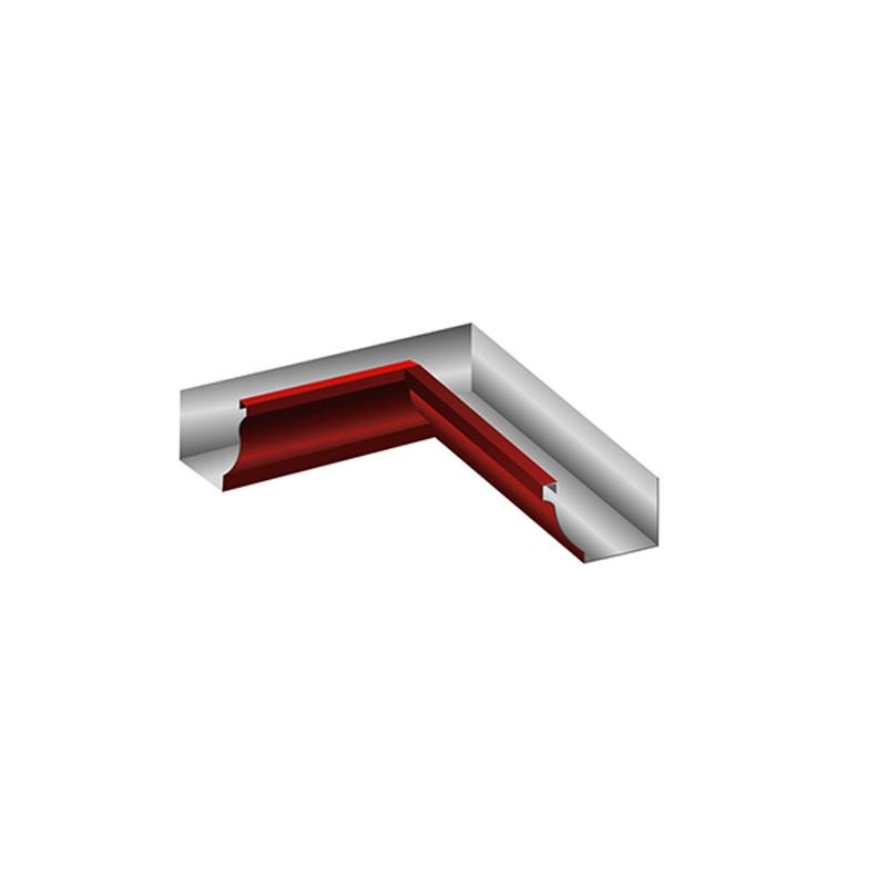 Угол желоба внутренний (сварной) 120x86 МП Модерн